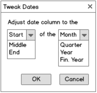 Date Adjustment wireframe